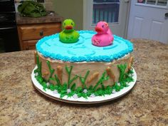 The Duck Dynasty baby shower cake.