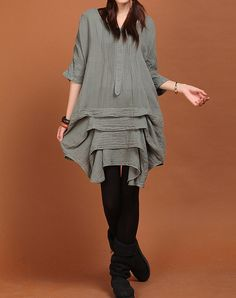 Hey, I found this really awesome Etsy listing at http://www.etsy.com/listing/128853443/casual-cotton-three-quarter-sleeve-dress