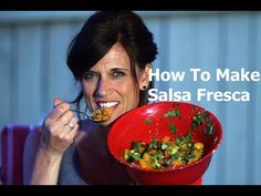 How to make Salsa Fresca - fresh and tasty, quick and simple recipe using garden fresh ingredients, perfect for a party or easy side dish.