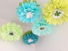 summer retail window ideas | FRESH CUT. 5 Giant Hanging Paper Flowers, oversize, wedding, bridal ...