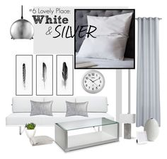 #6 LOVELY PLACE: WHITE & SILVER by witchfromheaven on Polyvore featuring interior, interiors, interior design, dom, home decor, interior decorating, Modway, Regina-Andrew Design, Ralph Lauren and West Elm