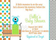 Printable Diaper Raffle For Little Monster Baby Shower Or Birthday
