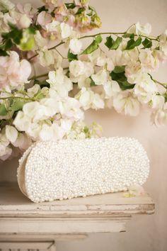 Edna Pearl Beaded Handbag