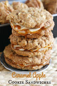 Caramel Apple Cookie Sandwiches