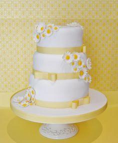 dasey cake | Sweet Daisy wedding cake | Mericakes