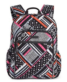 This Vera Bradley Campus Tech Backpack has school covered with the size and organization for students. Striped Backpack, Striped Bags, Backpack Craft, Backpack Bags, Backpack Online, Laptop Backpack, Vera Bradley Patterns, Gucci Purses, Quilted Bag
