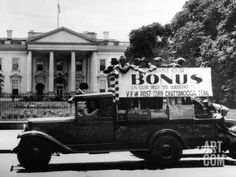 household items from the past pics | ... , Parade Past White House in a Truck, May 18, 1932 Photographic Print
