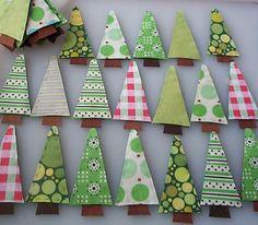 Alberi di Natale di stoffa