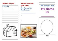 Students learn how to make an exciting leaflet and answer questions about themselves. Suitable for all Primary ages, ESL, SEN.