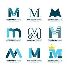 Vector Premium | Logotipo de la letra m Typo Logo Design, Game Logo Design, Logo Design Template, Lettering Design, Logo Templates, Letter Logo, Carta Logo, Logo Smart, Money Logo