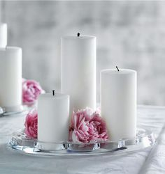 Centros de mesa con velas | Decoratrix | Decoración, diseño e interiorismo