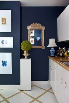 décoration de style marin, jolie idée d'aménagement, miroir décoratif
