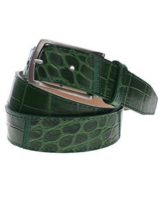 FLATSEVEN Mens Casual Crocodile Emboss Leather Belt with Square Single Silver Metal Buckle (Y408), Green FLATSEVEN http://www.amazon.com/dp/B00OHSL1N6/ref=cm_sw_r_pi_dp_XRf2ub11NAF61 #Men #Fashion #Belt #Leather Belt #Casual