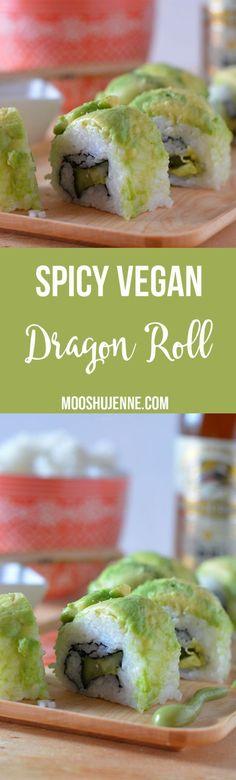 Spicy Vegan Dragon Roll