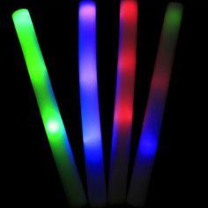Concerto 1PCS Branco espuma feita LED vara do fulgor da Copa do Mundo elogio Props (alimentado por bateria incluído, cor aleatória) – BRL R$ 5,15