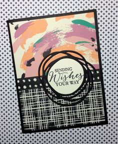 Swiry Scribbles Thinlits and Playful Pallette Designer Series Paper Stack by Stampin' Up!  Linda Madison