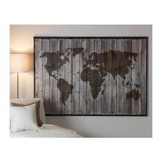 Mbler og interir til hele hjemmet pinterest map pictures driftwood world map canvas frameastic connectors not included gumiabroncs Image collections