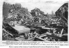The Tri State Tornado - Murphysboro, IL damage from March 18, 1925