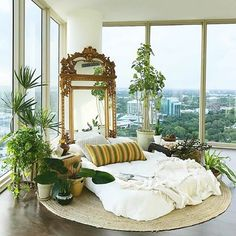 So dreamy take me here please #bedroomgoals thanks for sharing your #imaplanthoarder photo @arteboheme (staging for @pitusa.co)