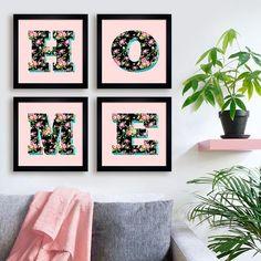 Kit Home Quarteto - Encadreé Posters. Encontre a arte perfeita para sua decoração na Encadreé Posters.  Palavras-chave: parede decorada, parede de quadros, posters, quadros, decor, decoração, presentes criativos, arte, ilustração, decoração de interiores, decoração criativa, quadros decorativos, posters com moldura, quadros modernos, decoração moderna, quadros tumblr, conjunto de quadros decorativos, kits de quadros, gallery wall, home, casa, lar, meu cantinho, minha casa, flores, floral