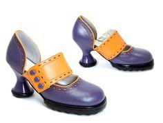 Fluevog MIni Zaza in purple and orange. Added to my closet 12.25.10