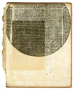 Wandering but not Lost: Kate Castelli at Twelve Chairs. Woodblock on 19th century book cover.