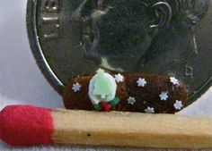 1:12 scale dollhouse miniature Christmas Cookie  100% polymer clay. Amber Dawn InventiveSoul on Instagram Amber Dawn Creations on FB