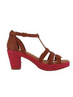Skórzane, dwukolorowe sandały na szerokim obcasie, z zapięciem na kostce. Flip flops 304 PLN #limango #sale #okazja #buty #moda