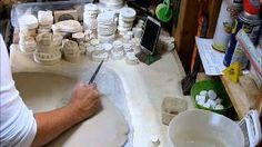 making plaster stamps by decomposing a pattern -jamie meador - YouTube