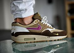 Atmos x Nike Air Max 1 'Viotech' (by Joel Ulrich) – Sweetsoles – Sneakers, kicks and trainers. On feet.