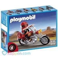 PLAYMOBIL 5113 Chopper - Koop nu voor €7,87 bij Koppen.com Ooit al een stoere motorrijder willen zijn? Het kan met de Playmobiel Touring! Spring op de motor en scheur weg! Leeftijd vanaf 4 jaar. http://www.koppen.com/producten/product/playmobil-5113-chopper