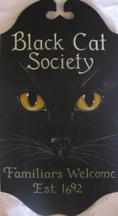 Love this & want it! She also made one that said Salem Sanctuary  at the top & Ferals & Familiars Welcome Est. 1692 at the bottom!