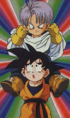 Trunks and goten  Trunks- maker of the bad ideas Goten- follower of the bad idea maker: this episode made me die of laughter