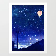 A night in Seoul #02 Art Print by Hajin  Bae - $14.56