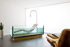HOESCH Badewanne / Whirlwanne Water Lounge (freistehend mit Holzboden)