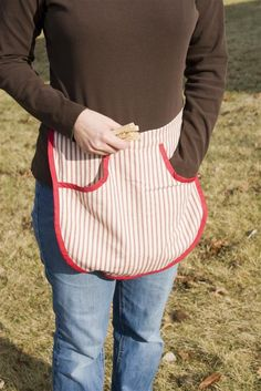 Lehmans:  clothespin or gardening apron to hold seed packets, twine and lightweight tools