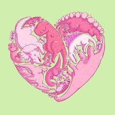 dinosaur love... If this was on a t-shirt, I would buy it for Gracie right this second!!!