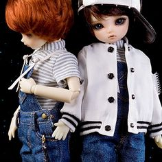 64.17$  Buy now - http://alizbh.worldwells.pw/go.php?t=32759604616 - bjd accessories Original AS 1/6 bjd boy girl cute Denim overalls BaseBall Uniform top quality doll as clothing leisure suit