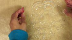 hot glue stencils