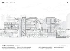 """Studying the """"Manual of Section"""": Architecture's Most Intriguing Drawing,Taichung Metropolitan Opera House by Toyo Ito & Associates (2016). Published in Manual of Section by Paul Lewis, Marc Tsurumaki, and David J. Lewis published by Princeton Architectural Press (2016). Image © LTL Architects"""