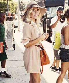 @roressclothes closet ideas #women fashion outfit #clothing style apparel Beige Outfit Idea with Hat