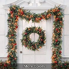 12 best Outdoor Christmas Garland images on Pinterest | Christmas ...