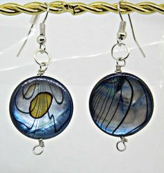 Abalone Shell Earrings by BlindedEyeDesigns on Etsy