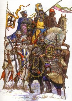 medieval warriors | Thread: Russian Medieval Warriors Medieval World, Medieval Knight, Medieval Armor, Medieval Fantasy, Crusader Knight, High Middle Ages, Work Horses, Historical Art, Knights Templar