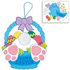 Easter Craft Kits | Easter Bunny Egg Shaped House Kit, Bunny Bottom Wreath Sign Kit & Picture Photo Frame Magnet Kit | For Kids DIY Classroom Daycare Homeschool Art Decor Gift Summer Toys Boys Girls: Toys & Games