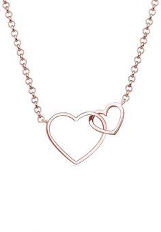 Damen Halskette 925er Sterling Silber pl Collier Herz Liebe Freundschaft