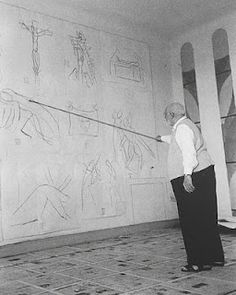 Matisse stood far away. used a white wall and worked on multiple things....  love it.