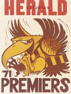 Hawthorn vs St.Kilda: WEG Premiership Poster 1971