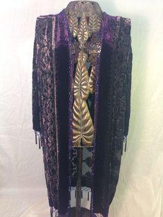 New Jinjiaa Sheer Jacket Size 6 Purple Med Chic Sexy Kimono Style Jacket | eBay