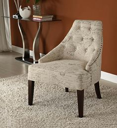 Armen Living LC2095VIFR - Devonshire 2095 Vintage French Fabric Chair - Printed | Sale Price: $322.20